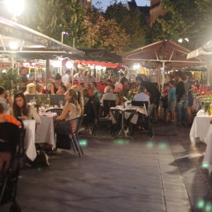 Restaurants on the Cours Saleya in Nice are always busy