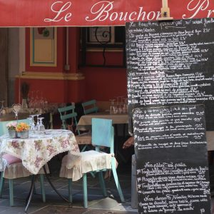 One of the restaurants in Vieux Nice