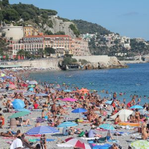 Enjoying the beaches in Nice, France