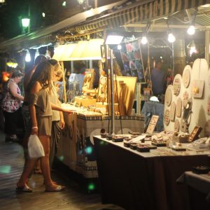 Shopping at one of the evening markets on the Course Saleya in Nice